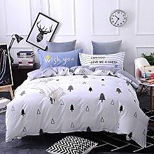 4 piece blumen comforter set king queen hoch klasse luxuriös flower drucken garten stil modern bettwäsche schwarz weiß multi color -I Queen2