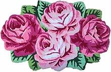 4 Rose geformte Teppich Luxus großen Teppich,