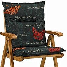 4 Sessel niedrig Auflagen 8 cm dick 103 cm lang in schwarz Ibiza 40240-701 (ohne Stuhl)