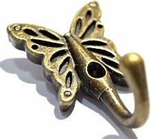 4 Sets Wandaufhänger Bronze Haken Antik