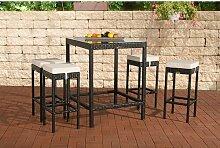 4-Sitzer Bartisch-Set mit Polster Garten Living