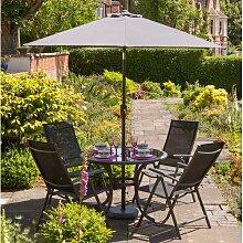 4-Sitzer Gartengarnitur Emil mit Sonnenschirm