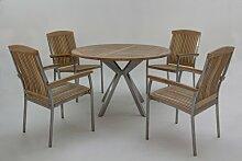 4-Sitzer Gartengarnitur Mascarenas Ebern Designs
