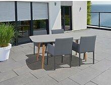 4-Sitzer Gartengarnitur Vasques Ebern Designs