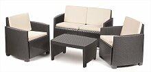 4-Sitzer Lounge-Set Abibatu aus Polyrattan mit