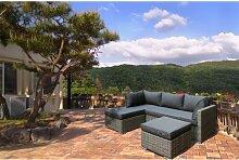 4-Sitzer Lounge Set Soho aus Polyrattan mit Polster