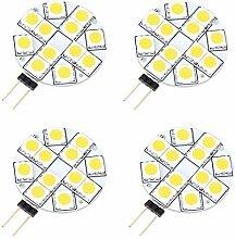 4 Stck. G4 LED Stiftsockel Leuchtmittel 12 SMD