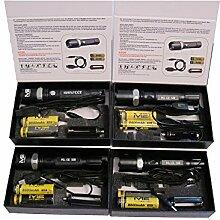 4 Stk. Swat LED Cree Polizei Taschenlampe + 8x