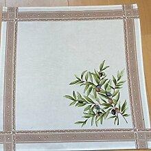 4 Stoffservietten, Natur mit Oliven, Provence