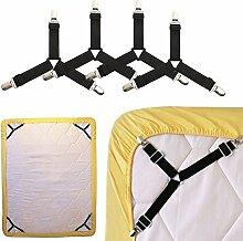 4 Stück Bettlaken Clip Matratze Fasteners,