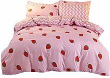 4 Stück Bettwäsche Set 2 Personen mit Kissen