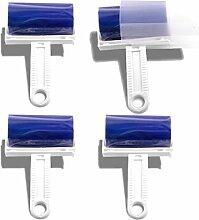 4 Stück Dauerfussel Roller Fusselroller