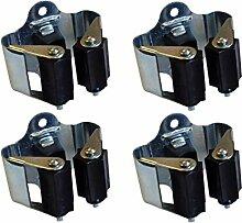 4 Stück DKB Gerätehalter Besenhalter Metall mit