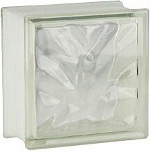 4 Stück FUCHS Glassteine Wolke Klar 19x19x10 cm