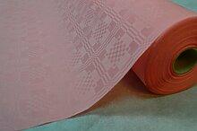 4 Stück (Gesamtlänge: 200 Meter) 50 Meter Lang 100 Cm Breit Farbe: Rosa Tischdecke Papier Damastprägung Tischtuch Papierttischdecke Decke Rolle Papiertischdeckenrolle Papierdecke