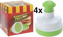4 Stück Hamburgerpresse ø 10 cm Burgerpresse