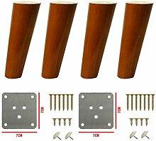 4 Stück Holzmöbel Beine,Kipptisch