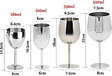 4 Stück klassische Weingläser Edelstahl Weinglas
