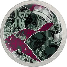 4 Stück Kristall Kommode Knopf Schubladengriff