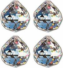4 Stück Kristallglas Kugel 40mm Bleikristall