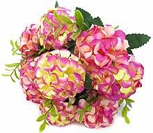 4 Stück Kunstblumen Aus Seide Hortensie
