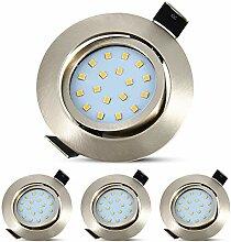 4 Stück LED-Einbaustrahler für den Innenbereich,