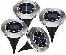 4 Stück LED Solarleuchten Bodenleuchte 8 LED