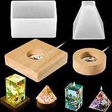 4 Stück Lichtharzform LED Licht Harzform