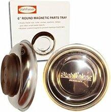 4 Stück Magnetschalen INOX Ø 150 mm Haftschale für Schrauben Muttern