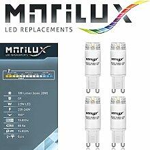 4 Stück Marilux® 2.5W LED G9 Strahler Spot Birne