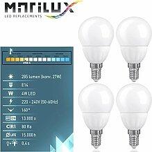 4 Stück Marilux® 4W LED-Birne E14 Spot Strahler