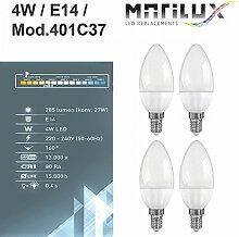 4 Stück Marilux® 4W LED Kerze E14 Spot Strahler