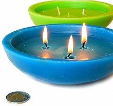 4 Stück Schwimmkerzen Ø 15,5 cm gemischte Farben für Pool oder Gartenteich