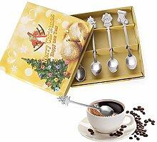 4 Stück / Set kleine Edelstahl-Weihnachtsgeschirr