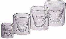 4 Stück/Set Kreative Totenkopf-Glas-Tassen,