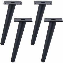 4 Stück Tischbeine, Kegel Möbelbeine