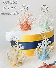 4Stück Tischkartenhalter Memoclip Coral aus