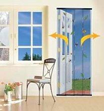 4Stück Tür Insekten Vorhang–Anthrazi