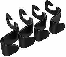 4 Stück Universal Auto Kleiderbügel Fahrzeug Zurück Haken Kleiderbügel Kopfstütze Organizer Kunststoff Lagerung Inhaber für Lebensmittel Tasche Handtasche und Mantel
