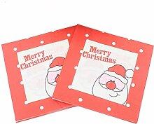 4 Stück Weihnachtservietten, Dekorative bedruckte