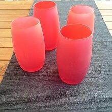 4 Stück Windlicht Rot , mediteranes Flair , Garten, Ambiente, Deko Lich