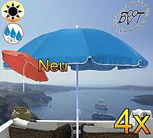 4 Stück XXL Sonnenschirm gross, 180 cm / 1,80 m EDEL mit Volant, Sonnendach Schirm Strandschirm r8 eckig, marine-blau Rand weiß, 8-tlg. Strandschirm,Sonnendach /Sonnenschutz Dach, XXL-Klappschirm, Gartenschirm extrem wetterfest, klappbar, tragbar, seewasserfest, hochwertig robust stabil, Sonnenschutz, stabiler Schirm Klappschirm, Strandschirme, Sonnenschirme, Sonnenschirm-Tische, Regenschirm Picknickschirme