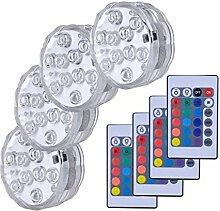 4 STÜCKE RGB Tauchlicht Unterwasser LED-Licht