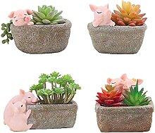 4 stücke Schweine Schwein Sukkulente Pflanzer