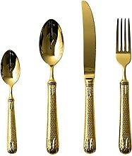 4 stücke Top Qaulity Luxus Goldene Besteck 4