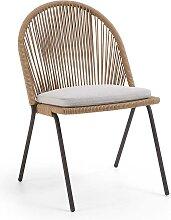 4 Stühle aus Kordel Geflecht Retrostil (4er Set)
