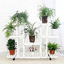 4-stufiger Blumentreppe Pflanzenregal