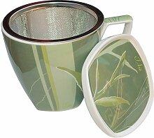 4 Teetassen Bone China Porzellan Tasse mit Sieb