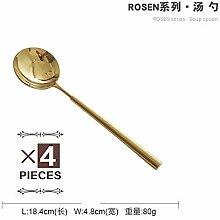 4 Teile/satz Elegantes Goldenes Besteck Gold
