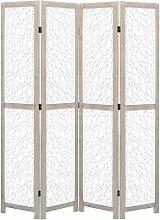 4-teiliger Raumteiler Weiß 140 x 165 cm